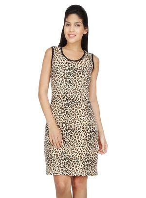 Leopard-Women Long tank(Sleeveless)