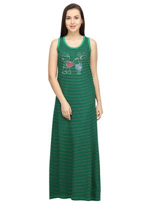 Hearts -Women Night gown(Sleeveless)