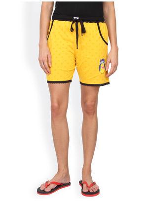 Yellow Polka Shorts