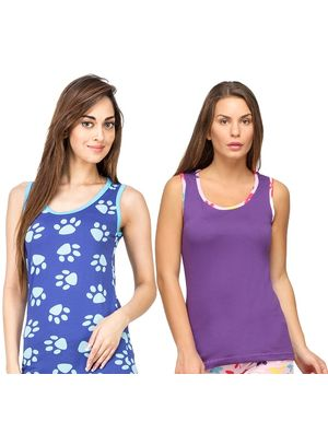 Papillon & Paws -Women Tank Top Combo