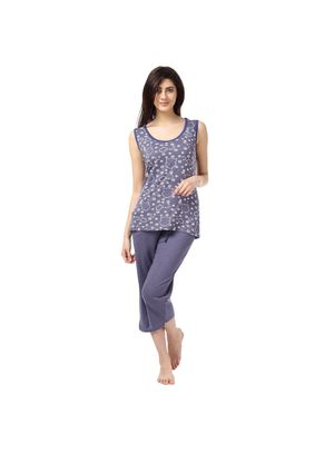 Wide Awake And Denim -Women Tank Top Capri Set