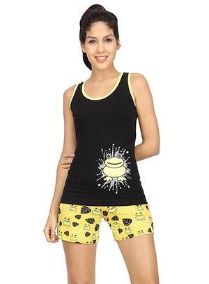 I Am A Freak -Women Tank Top Shorts Set