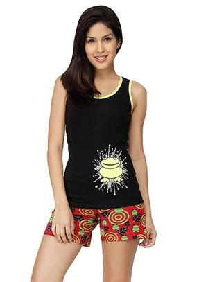 I Am Freak -Women Tank Top Shorts Set