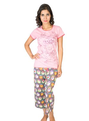Love Doddle & I Am Doll -Women Tee and Capri Set