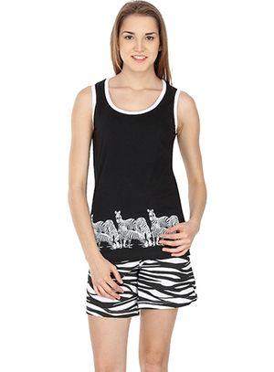 I Am Wild -Women Tank Top Shorts Set
