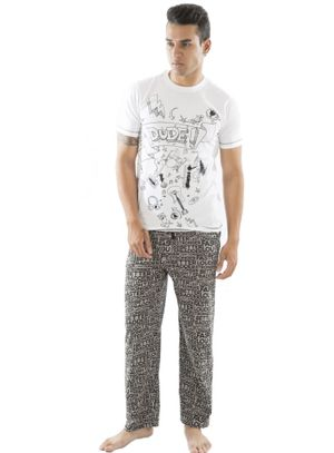 Dude Doddle & Stronger at Night-Men PJ Set