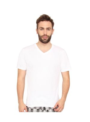 Plain Vneck Tee-Men Tee