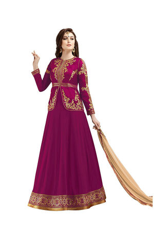 Dark Pink Long Anarkali Suit 18