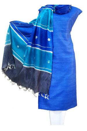 Blue Geecha Tussar Silk Material Material R49