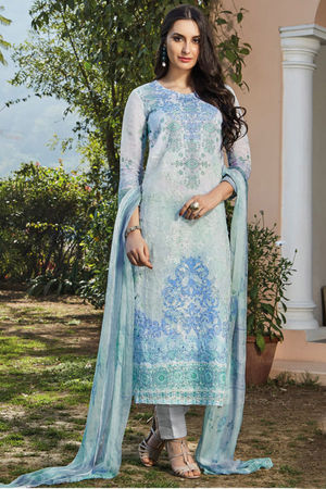 Casual Wear Straight Cotton Salwar Suit_2