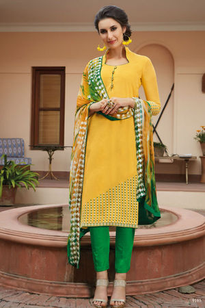 Casual Wear Straight Cotton Salwar Suit_28