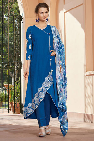 Casual Wear Straight Cotton Salwar Suit_29