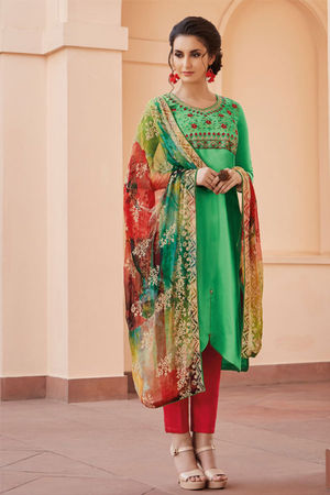 Casual Wear Straight Cotton Salwar Suit_30
