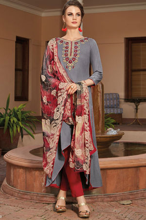 Casual Wear Straight Cotton Salwar Suit_31