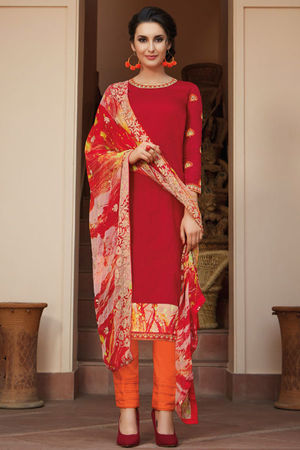 Casual Wear Straight Cotton Salwar Suit_32