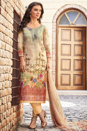 Casual Wear Straight Cotton Salwar Suit_46