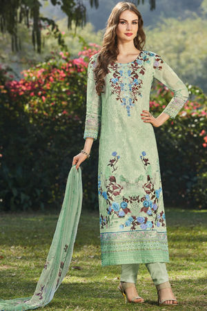Casual Wear Straight Cotton Salwar Suit_6