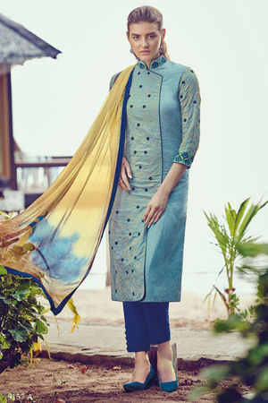 Casual Wear Straight Cotton Salwar Suit_61