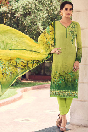 Casual Wear Straight Cotton Salwar Suit_7