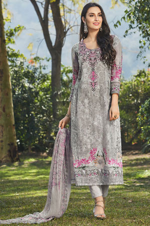 Casual Wear Straight Cotton Salwar Suit_8