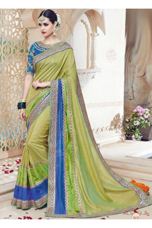 Designer Green Wedding Saree_21