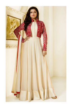 Drashti Dhami Embroidered Long Anarkali Suit_10