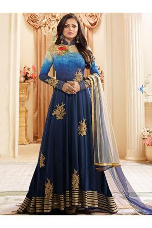 Drashti Dhami Embroidered Long Anarkali Suit_12