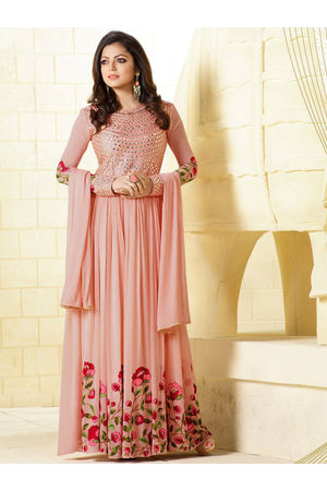 Drashti Dhami Embroidered Long Anarkali Suit_15