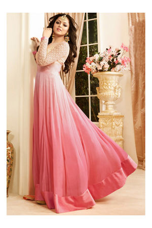 Drashti Dhami Embroidered Long Anarkali Suit_17