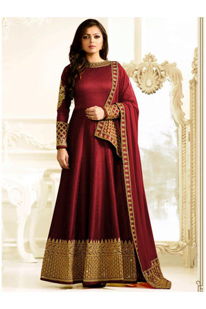 Drashti Dhami Embroidered Long Anarkali Suit_19