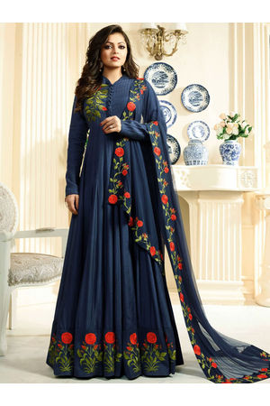 Drashti Dhami Embroidered Long Anarkali Suit_23