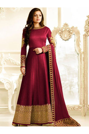 Drashti Dhami Embroidered Long Anarkali Suit_8