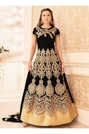 Elegant Gauhar Khan Anarkali Suit _2