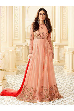 Kareena Kapoor Peach Color Long Anarkali Suit