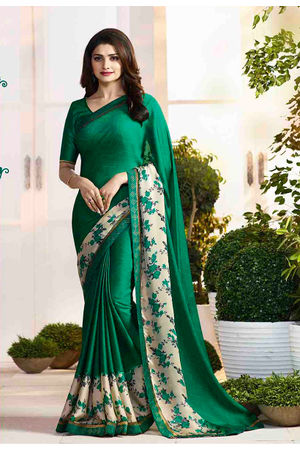 Prachi Desai in Printed Satin Saree_17979