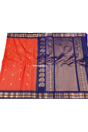 Dee's Alley  Red Color Pure Kanjeevaram Silk Saree - 100% Pure Silk