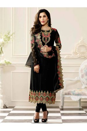 Sophie Chaudhary  black georgette suit with embroidery work
