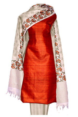Tussar Silk Suit with Printed Dupatta SP 120 R