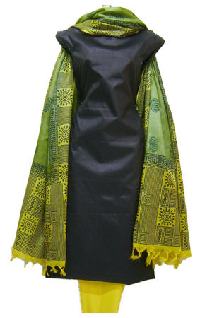 Tussar Silk Suit with Printed Dupatta SP 292