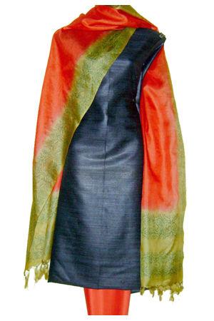 Tussar Silk Suit with Printed Dupatta SP 309