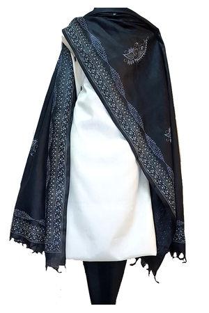 Tussar Silk Suit with Printed Dupatta SP 505