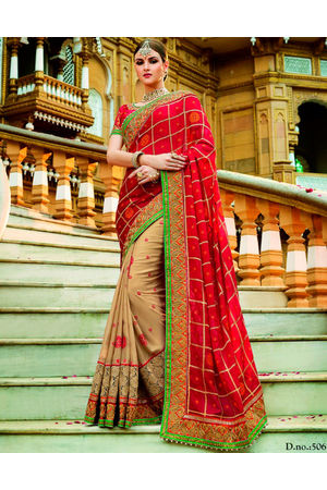Designer Wedding Red Bridal Saree_10