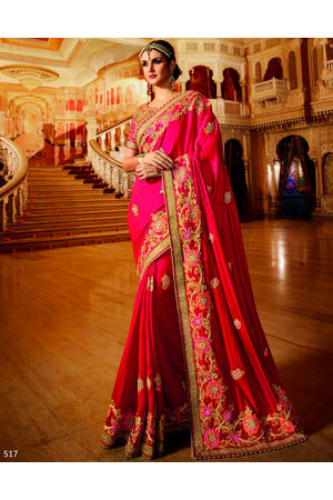 Designer Wedding Red Bridal Saree_13