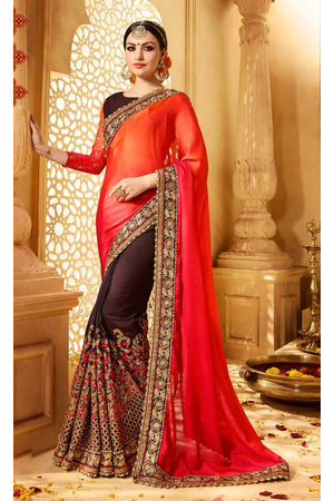 Designer Wedding Red Bridal Saree_15