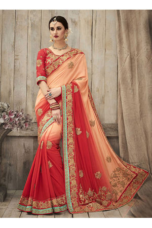 Designer Wedding Red Bridal Saree_2