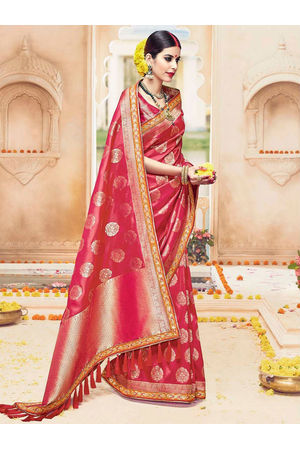 Designer Wedding Red Bridal Kanjivaram Saree_5