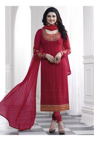 Prachi Desai maroon georgette straight suit 43