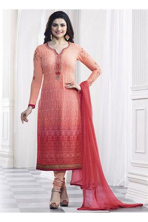 Prachi Desai Peach georgette straight suit 39
