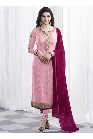 Prachi Desai Pink georgette straight suit 35
