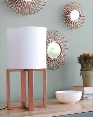 Table lamps online buy designer table lamps of orange tree in india alden led table lamp with linen shade aloadofball Gallery
